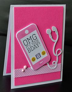 A little space of my own: cbs june release craft ideas girl birthday cards, Girl Birthday Cards, Bday Cards, Diy Birthday, Card Making Inspiration, Making Ideas, Adolescents, Gadgets, Decoupage, Kids Cards