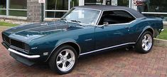 """1968 Chevrolet Camaro RS. My high school boyfriend had a Candy Apple Green one. I knew we were in for a wild ride when he'd tell me to """"buckle up."""" Whee!"""