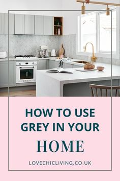 If you want ideas on how to use grey in your home, click through. Whether you want black and white ideas for a living room, grey with pops of colour, or with yellow, blue, pink and navy, find some inspiration in this home decor blog post. #lovechicliving #greyhome #blackandwhite Diy Crafts For Home Decor, Fall Home Decor, Home Decor Kitchen, Apartment Kitchen, Kitchen Interior, Living Room Art Decor Ideas, Tv Wall Decor, Home Decor Styles, Home Decor Accessories