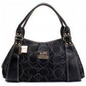 Coach Madison OP Art New Embroid Sateen Black Hobo Handbag U06038 $76  http://www.gotcoachoutlet.com/