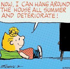 Summer Peanuts cartoon via www.Facebook.com/Snoopy