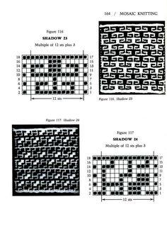 Mosaic Knitting Barbara G. Walker (Lenivii gakkard) Mosaic Knitting Barbara G. Walker (Lenivii gakkard) #169