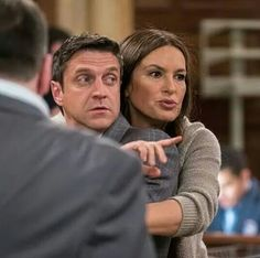 Raul Esparza with Mariska Hargitay
