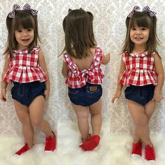 Pink Flower Girl Dresses, Little Girl Dresses, Cute Outfits For Kids, Toddler Outfits, Baby Girl Fashion, Kids Fashion, Cute Mixed Kids, Baby Dress Patterns, Girl Trends