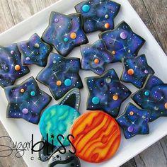 Galaxy Planet Cookies   Sugar Bliss