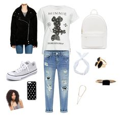 """Minnie biker"" by morgiegrace-1 on Polyvore featuring Neff, Converse, PB 0110, CellPowerCases, River Island, LUMO and Givenchy"