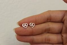 Sterling Silver Celtic Heart Stud Earrings, Celtic Earrings, Dainty Earrings, Gift for Girlfriend, Anniversary Gift, Wedding Gift. by GreatJewelry4All on Etsy https://www.etsy.com/listing/200444295/sterling-silver-celtic-heart-stud