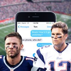 Leaked text messages between Julian Edelman and the recently suspended Tom Brady prove the Patriots' QB really has been ditching all those phones.