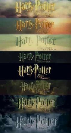 Harry Potter titles getting darker as the times got darker!