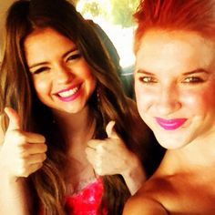 Two thumbs up and some cheesy smiles to the most amazing birthday girl, @Selena Gomez!! - @Michaela Fuller- #webstagram