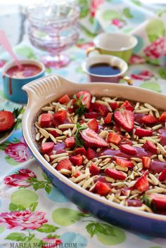 Strawberry Baked Steel Cut Oatmeal | recipe on FamilyFreshCooking.com #vegan