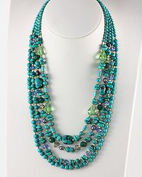 See & Shop this Stunning Brass & Turquoise Statement Necklace at www.beadnic.com