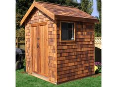 6x6 Signature Shed with Pre Built Panels  2 of these with pergola in between.  pool house and an office