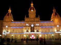 Christmas in Spain  La Coruna, Spain