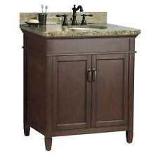 Bathroom Vanity in Mahogany with Granite top and under mount sink