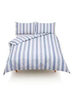 Hadley Striped Bedding Set   M&S