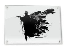 Voldemort and Dementors Harry Potter silhouette handcut paper