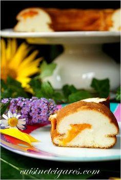 Gâteau Flan au Fromage Blanc et aux Abricots