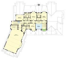 Grand Craftsman Manor - floor plan - Floor OMG Becky, that Bonus Roo. - House Plans, Home Plan Designs, Floor Plans and Blueprints Dream House Plans, House Floor Plans, Architectural Design House Plans, Architecture Design, Open Layout, Floor Layout, Two Story Homes, Walk In Pantry, House Layouts