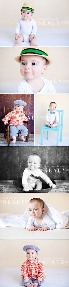 Love these baby outfits, especially the hats - too cute! birthday poses!!