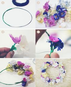 Flower crown DIY from Collagevintage. MUST TRY! Love it! <3