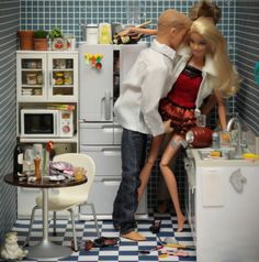 """Bad, Bad Barbie! What's hidden behind """"eternal"""" Barbie's empty stare and immaculate exterior? Does this seamless exterior hide a dark black heart of a sociopath as in real life? Created by photographer Mariel Clayton."""
