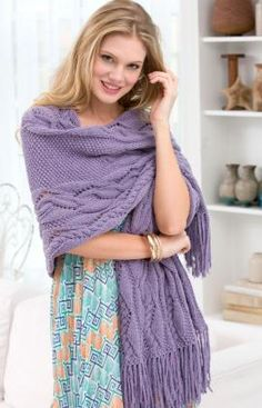 Free Pattern: Meandering Cables Shawl