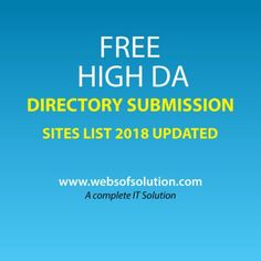 Free directory submission site list