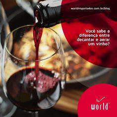 Aprenda a diferença entre decantar e aerar um vinho.