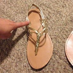 Forever 21 sandals Barely worn. There is a little bit of dirt on them but nothing major. Still in very good condition Forever 21 Shoes Sandals
