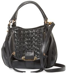 Jonnie Mini Woven Leather Crossbody