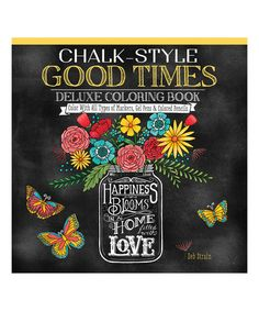 Look at this Chalk-Style Good Times Deluxe Coloring Book on #zulily today!