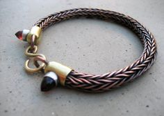 Roman Chain Bracelet with Garnets aka Egyptian by SilviasCreations, $280.00