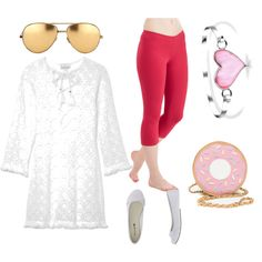 summer by a-mido on Polyvore featuring polyvore fashion style Miguelina Bling Jewelry Linda Farrow