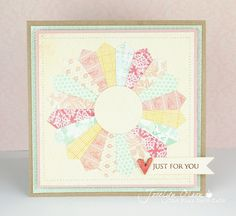 "Beautiful ""quilted"" type card"