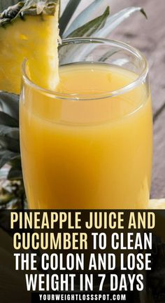 Pineapple Juice And Cucumber To Clean The Colon And Lose Weight In 7 Days - Healthy Helps Detox Drinks, Healthy Drinks, Detox Juices, Healthy Nutrition, Healthy Detox, Quick Detox, Healthy Eating, Healthy Water, Holistic Nutrition