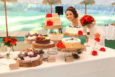 Cute shot of a bride and her cakes ;) Photography by clairemccormack.com