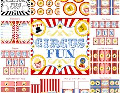FREE CIRCUS PARTY PRINTABLES + Extras!