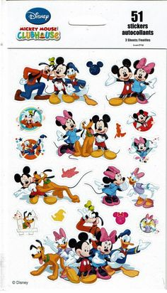 Mickey Mouse Clubhouse Minnie Pluto Goofy Donald KID SQUAD 51 Stickers | eBay