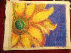 Oil pastel on paper