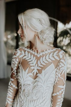 This bride wore long