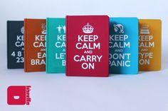 Cadernos artesanais - Librettos Série Keep Calm