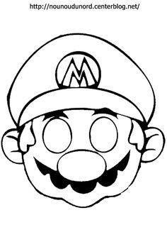 Masque Mario à imprimer dessiné par nounoudunord