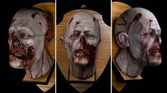 Mounted zombie head shows that you are a decorator of undead distinction#Repin By:Pinterest++ for iPad#
