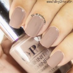 Classic. Jessica B.'s nude number is surely a winner! Take this OPI #InfiniteShine for a spin and see the gel-like gloss it can give in just three easy steps.