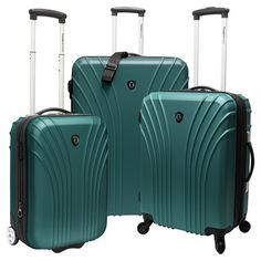 Found it at Wayfair - Hardsided 3 Piece Expandable Luggage Set in Green