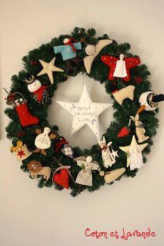 Coton et Lavande: Corona de Navidad...terminada!