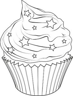 cupcake - Cupcake Coloring Pages