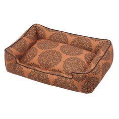 Milan Orange Premium Cotton Blend Lounge Bed