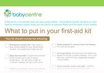 First aid kit shopping list